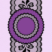 Vintage lace frame, abstract ornament. Vector texture. — Stock Vector