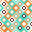 Seamless pattern with forks, spoons and plates in retro style. — Stock Vector