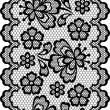 Old lace border, abstract ornament. Vector texture. — Stok Vektör