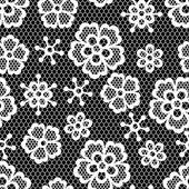 Alte nahtlose Lochmuster, dekorative Blumen. Vektor-Textur. — Stockvektor