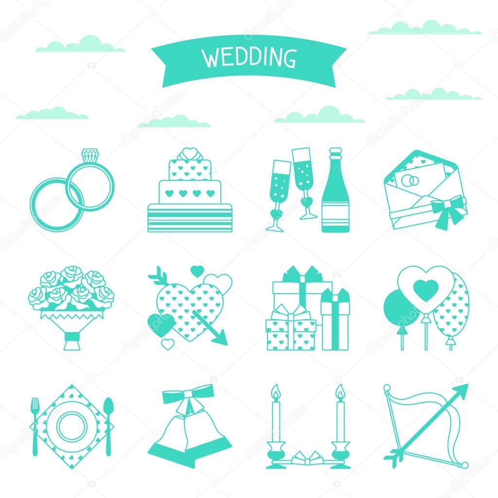 Pictogram wedding