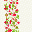 Merry Christmas seamless pattern. — Stockvectorbeeld