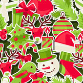 Merry Christmas seamless pattern. — Stock Vector