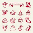 Set of Merry Christmas icons and objects. — Stockvectorbeeld