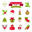 Vector de stock : Merry Christmas and Happy New Year icons.