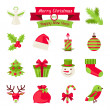 Merry Christmas and Happy New Year icons. — Vector de stock #31363265