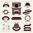 Collection of labels and ribbons in retro vintage style. — Stock Vector