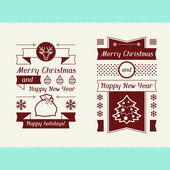 Merry Christmas invitation typographic design elements. — Stock Vector