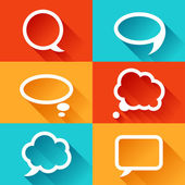 Set of speech bubbles in flat design style. — Stock Vector
