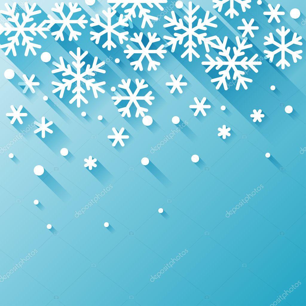 Снежинки зима фон