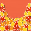 Background with stickers autumn leaves. — Stock Vector