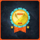 Grunge pozadí s trofeje a ocenění. — Stock vektor