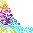 Color splash waves abstract background. — Grafika wektorowa