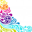 Color splash waves abstract background. — Stock Vector #32735101