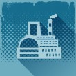 Industrial factory building background. — Stock Vector