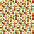 Seamless retro pattern of Valentine's hearts. — Stock vektor