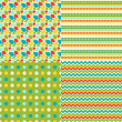 Happy Easter set of seamless patterns. — Stockvectorbeeld