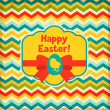 Happy Easter greeting card background. — Stockvectorbeeld