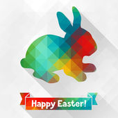 Happy Easter greeting card background. — Stock Vector