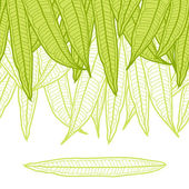 Seamless natural pattern with long leaves. — Stock Vector