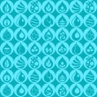 Seamless pattern with water icons in flat design style. — Stock Vector