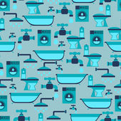 Seamless pattern with plumbing equipment. — Stock Vector