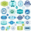 Set of water labels, badges and stickers. — Stock Vector #35681663