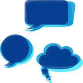 Set of trasnparent patterned speech bubbles. — Stock Vector
