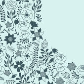 Romantic background of various flowers in retro style. — Stok Vektör