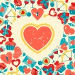 Valentine's and Wedding background. — Imagen vectorial