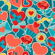 Valentine's and Wedding seamless pattern. — Stock Vector