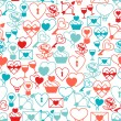 Valentine's and Wedding seamless pattern. — Stok Vektör