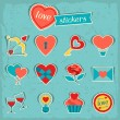 Set of Valentine's and Wedding icons, design elements. — Stock Vector
