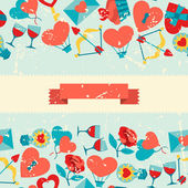 Valentine's and Wedding seamless pattern. — Vector de stock