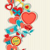 バレンタインと結婚式のシームレスなパターン. — ストックベクタ