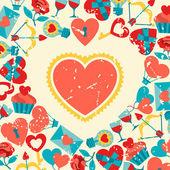 Valentine's and Wedding background. — Stock Vector