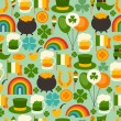 Stock Vector: Saint Patrick's Day seamless pattern.