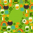 Saint Patrick's Day greeting card. — Stock Vector