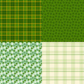 Saint Patrick's Day seamless patterns. — Stock Vector