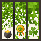 Saint Patrick's Day vertical banners. — Stock Vector