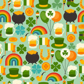 Saint Patrick's Day seamless pattern. — Stock Vector