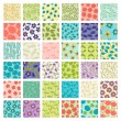 Set of 36 seamless floral patterns. — Stock Vector