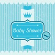 Boy baby shower invitation card. — Stock Vector