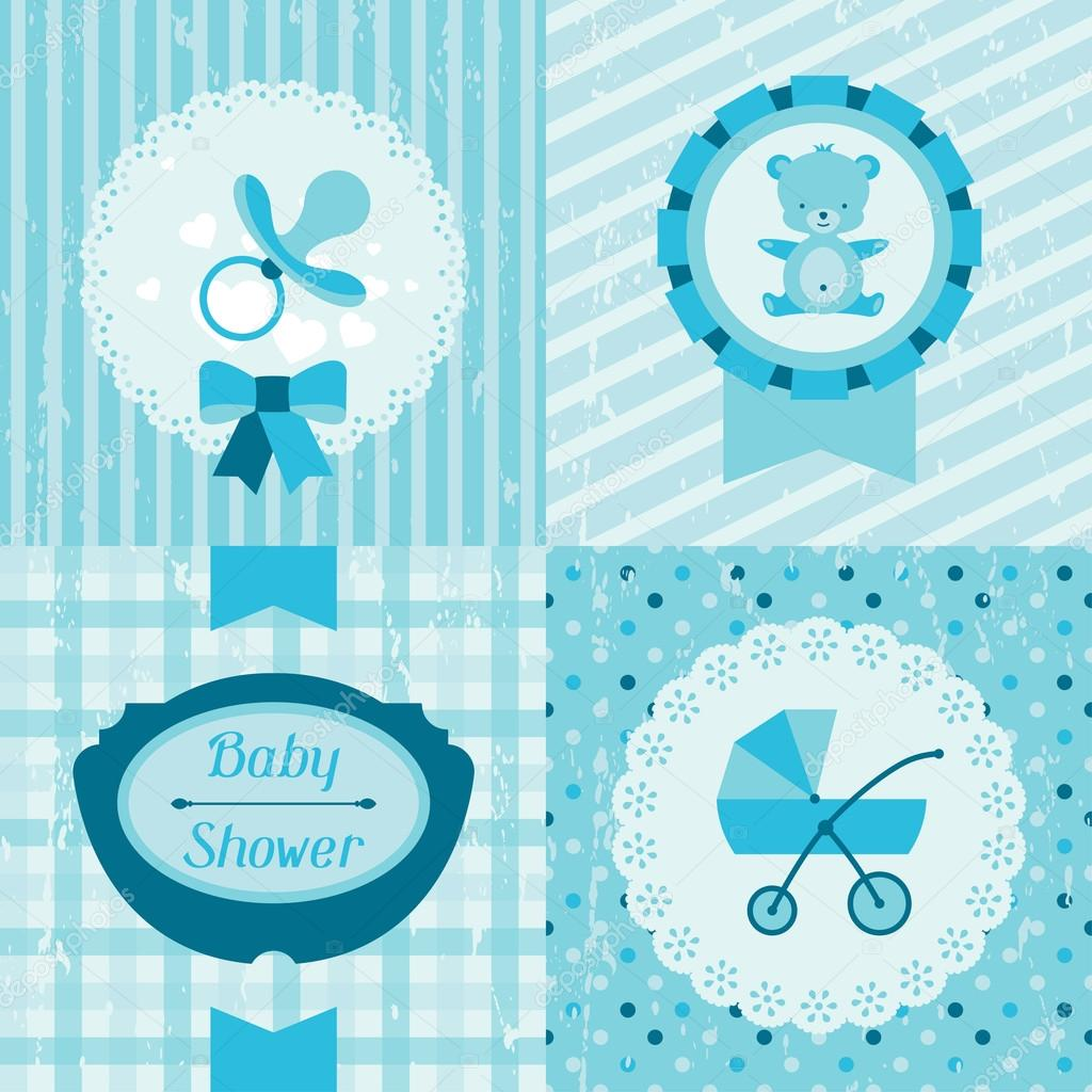 boy baby shower invitation cards stock vector incomible