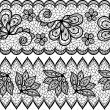 Stock Vector: Old lace seamless pattern, ornamental border. Vector texture.