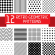 Set of 12 retro geometric patterns. — Stock Vector #37560969