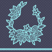 Vintage lace background, abstract ornament. Vector texture. — Stock Vector