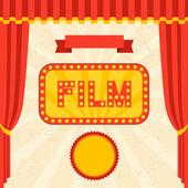 Retro arka plan film ve sinema. — Stok Vektör