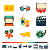 Set of movie design elements and cinema icons. — Stock Vector