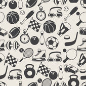 Seamless pattern of sport icons. — Stock Vector